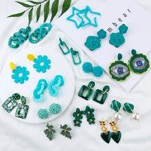 Flashbuy 2019 Korean Irregular Hollow Geometric Acrylic Drop Earrings For Women Summer Green Blue Long Wedding Jewelry