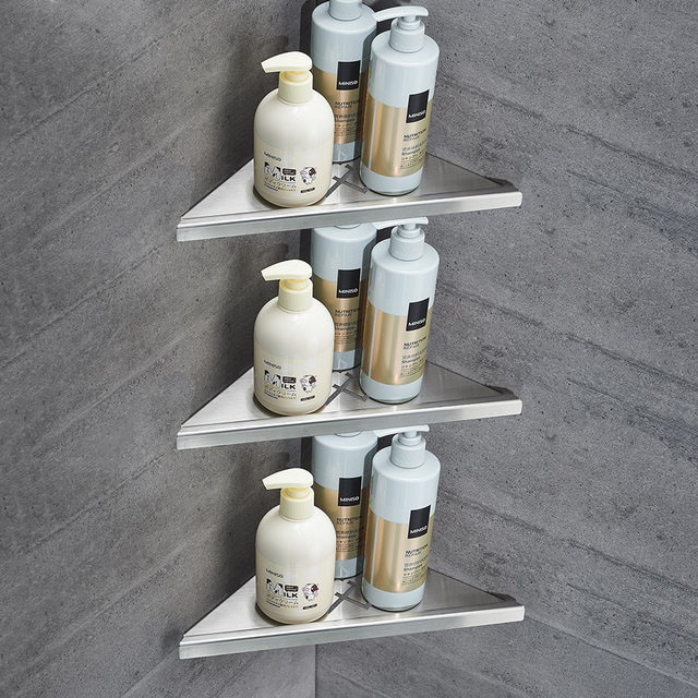 Online Shop Bathroom Shelves Brushed Nickel Stainless Steel 304 Wall ...