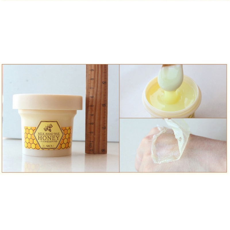 Beauty Milk Honey Paraffin Wax Hand Mask Hand Care Moisturizing Whitening Skin Care Exfoliating Calluses Hand Film Hand Cream 5