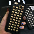 3D Caso de Telefone TPU Macio Fresco Do Punk Rock Spikes Stud Rivet capa para iphone 7 6 6 s plus 5 5S se 4 4S