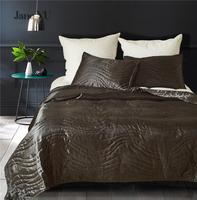 JaneYU Silk like Bed Cover Queen King Standard Size Home Textile Bedspred+2 pieces pillowcase