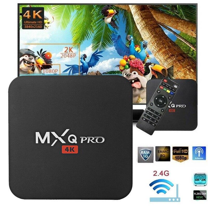 MXQ Pro 4K S905W Ultra HD 3D 64 Bit Android 7.1 Quad Core Smart TV Box KODI 17.6 Set Top Box
