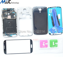 Front Glass Panel Replacement Parts For Samsung Galaxy S4 i9505 i9500 Housing Full Middle Frame Bezel