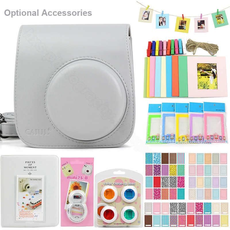 5 Warna Kamera Aksesoris Set untuk Fujifilm Instax Mini 9 Instant Film Camera, termasuk Membawa Tas/Foto Album/Stiker/Lensa.