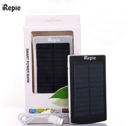 Портативный Солнечный Банк силы 10000 МАЧ Baterry Наружный Dual USB LED Внешний Мобильный Телефон Питания Солнечное Зарядное Устройство Резервного Копирования Powerbank