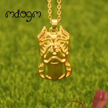 Cute American Pitbull Necklace – Pendant Gold Silver Plated Jewelry For Women