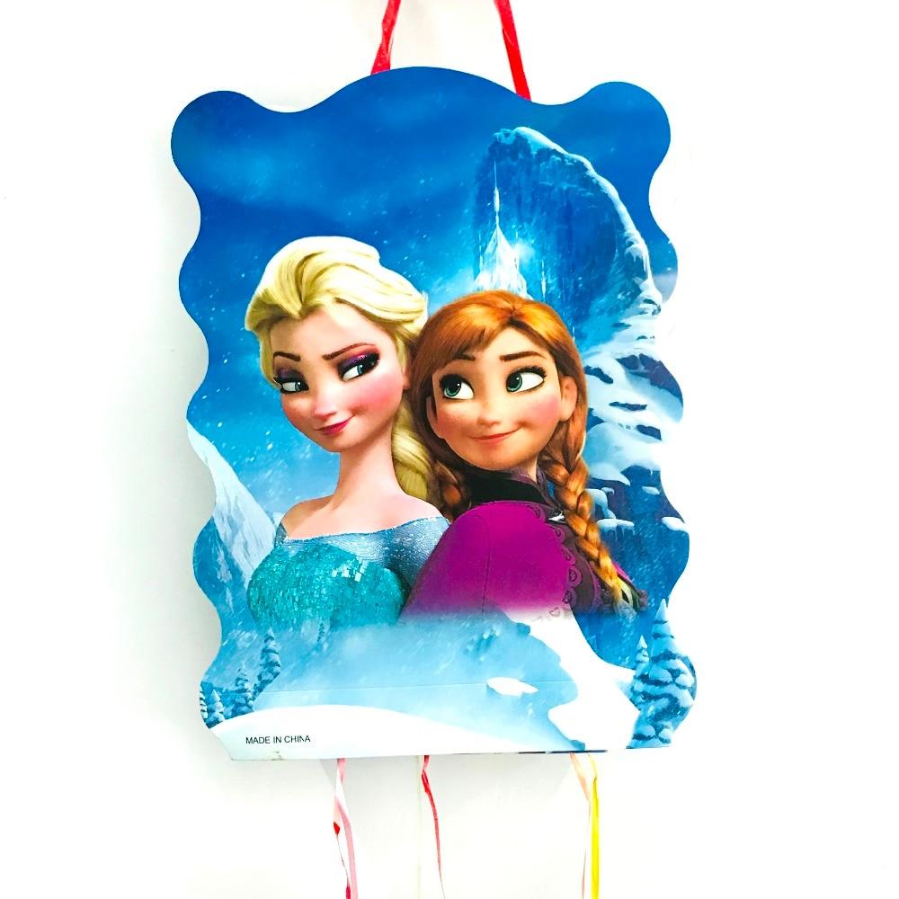 40*30cm DISNEY Freezing Anna Elsa Pinata Party Supplies Kids Disposable Plastic Children's Birthday Girls Party Favors