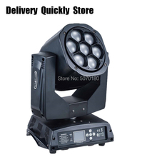 Fast Delivery 7pcs 10W RGBW 4IN1 Bee Beam Moving Head with Zoom Function Use well for Home entertainment party KTV Night Club