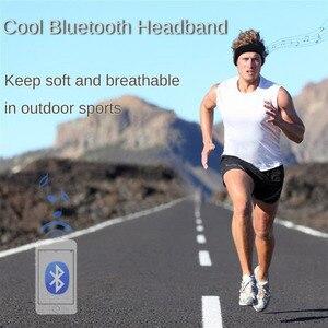 Image 3 - soft Bluetooth Headband cap Stereo Headphones Music Earphones Sleep Headset hat Sports Headband with Mic Answer Call for iPhone