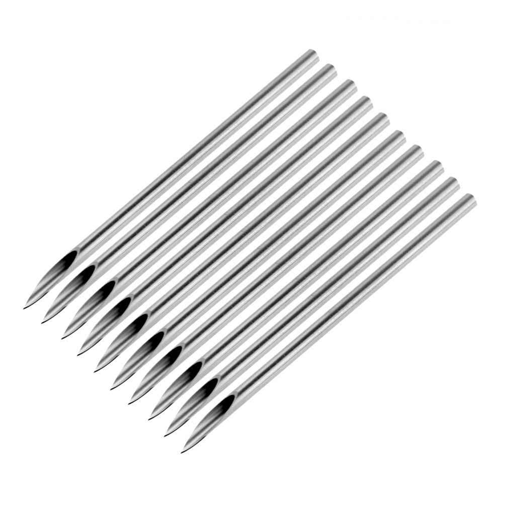 10pcs Surgical Steel Tatto Piercing Needles Medical Tattoo Needles For Navel Nose/Lip/Ear Piercing 14g (1.6mm) Newest 11