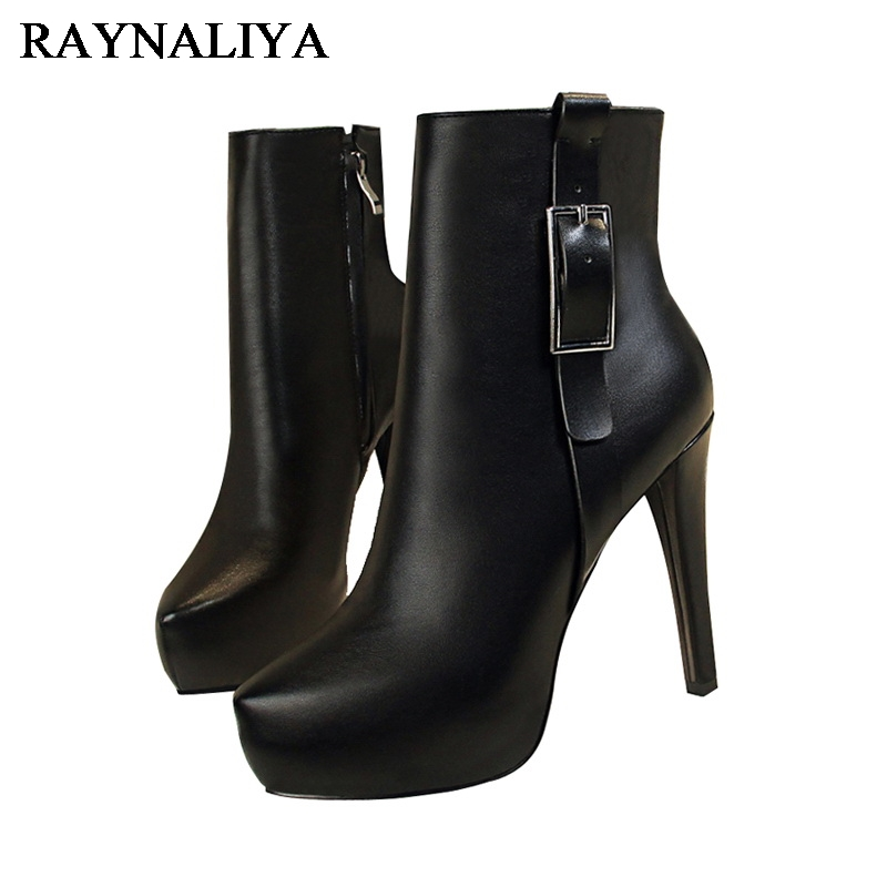 Zip Buckle Women Ankle Boots Fashion Pointed Toe Thin High Heels Spring Autumn Boots High Quality Soft Leather Shoes BT-A0083 arrylinfashion british fashion all match ankle boots top leather autumn botas femininas pointed toe charming thin high heels