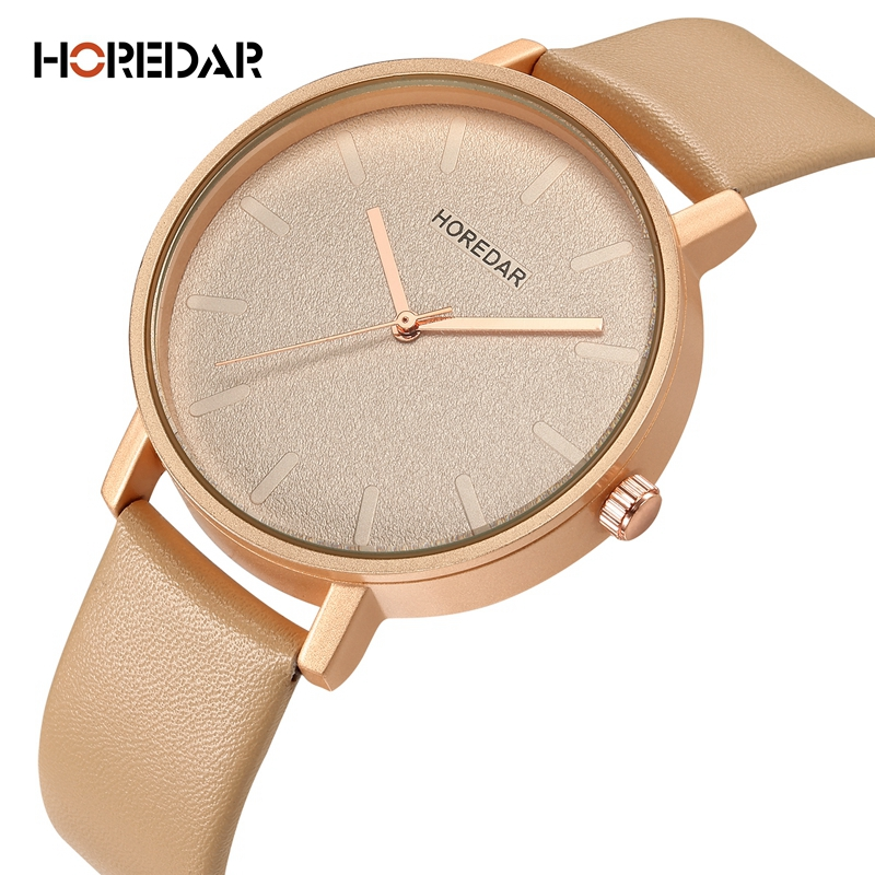 HOREDAR Simple Style Women Quartz Watch Brand Fashion Leather Watches Women Clock Relogio Feminino Gift Female Wristwatches 2018 drop shipping women simple watches luxury casual fashion women s leather quartz watch gift clock relogio feminino hot