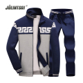 Jolintsai Hoodies Men 2017 Sweatshirts+Pant Men's Tracksuits Sets  Zipper Jacket Tracksuit Men Stand Collar Plus Size 4xl
