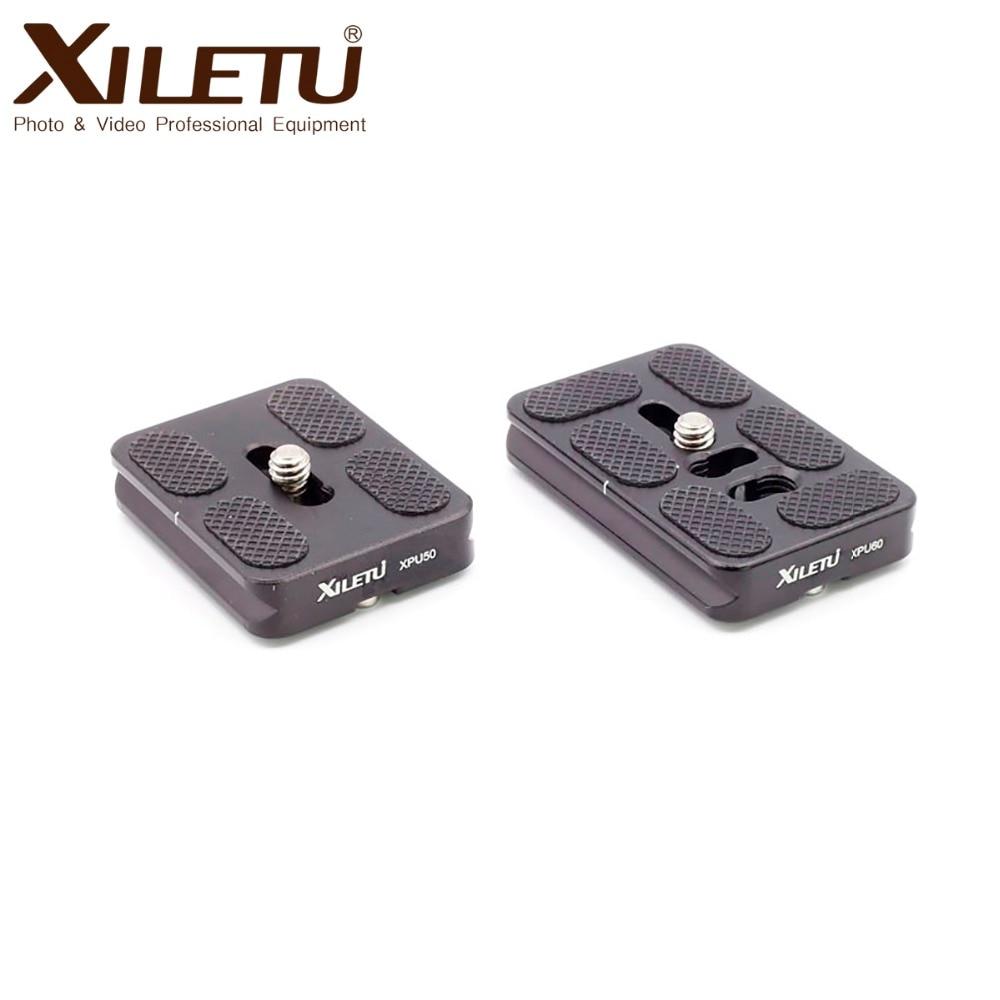 XILETU X-PU 50 60 70 Series General Plate Tripod Quick Release Mount Arca Standard Width 38mm Screw 1/4'inch For Manfrotto