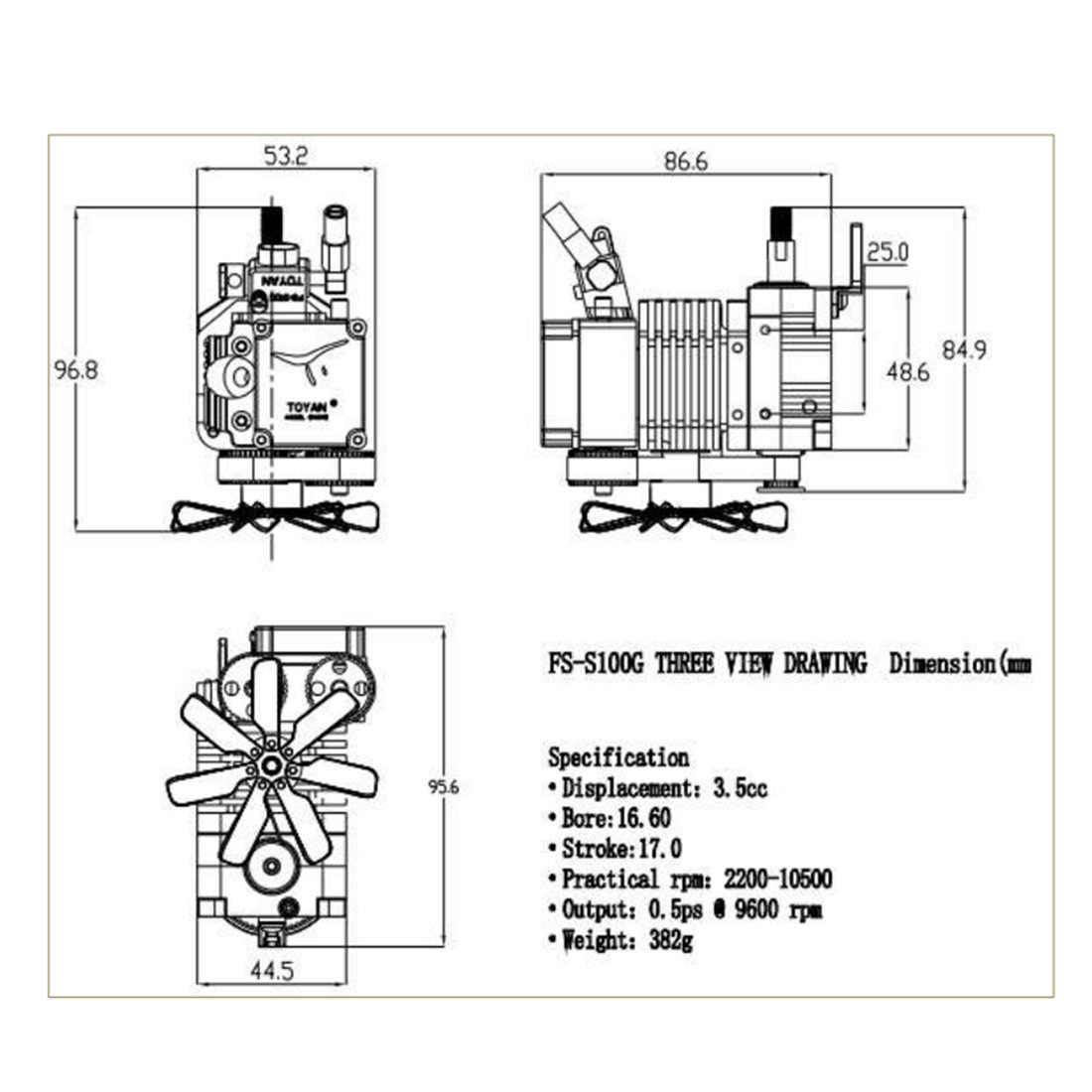 Тоян четырехтактный PSA генератор водорода из метанола Модель двигателя с пускового двигателя для 1:10 1:12 1:14 пульт ДУ для дистанционно управляемой машины лодки самолет-FS-S100A