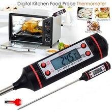 Электронный цифровой термометр для мяса, приготовления пищи, кухни, барбекю, зонд, вода, молоко, масло, жидкая печь, термометр, цифровой TP101