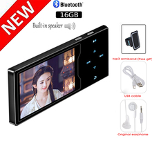 цена на Full Metal Touch MP3 Video Player Color Screen Full HD Video FM Radio Built-in Speaker 16GB Music Player Up to 128GB SD Card