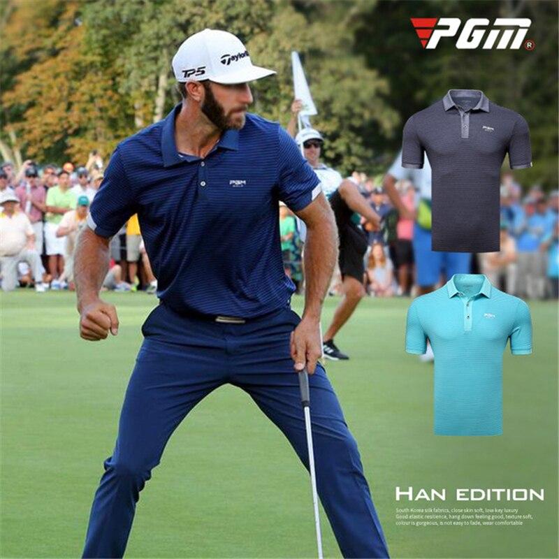 Chemises de Golf pour hommes compétition entraînement sport ajustement personnel d'été chemises de Base à rayures classiques chemises de fond