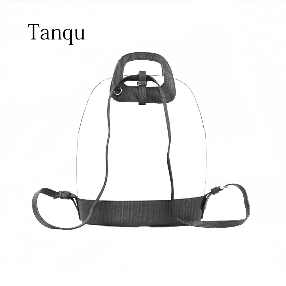 New D Buckle Oblong Handle Slim PU Leather Strap for O Bag 50  Belt Bottom Backpack Kit Combination Set for Obag 50Bag Parts