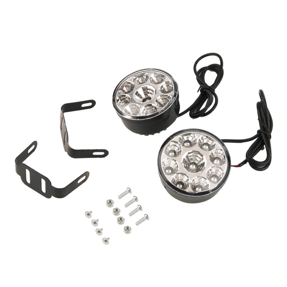 2017 Newest Friendly  Long Life Renewable Materials A Pair Of Circular 9LED Lamp White Light saarc renewable energy efficiency challenges