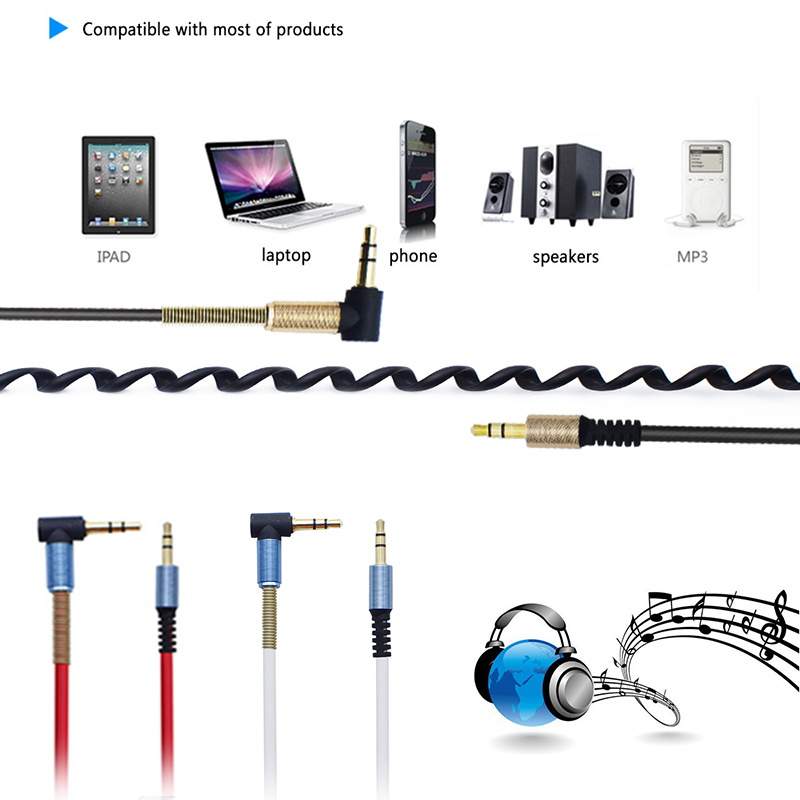 Ugreen 3.5mm Jack Audio Cable 3.5 Male to Male Cable Audio 90 Degree Right Angle Aux cable for iPhone Headphone Speaker rca