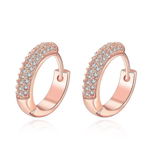 E038-B Free shopping  gold plating earrings Fashion High Quality zircon earrings