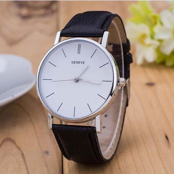 Fashion Men Business Quartz Watch Stylish High Quality  Pu Leather Military Es Sport Casual Analog Wrist