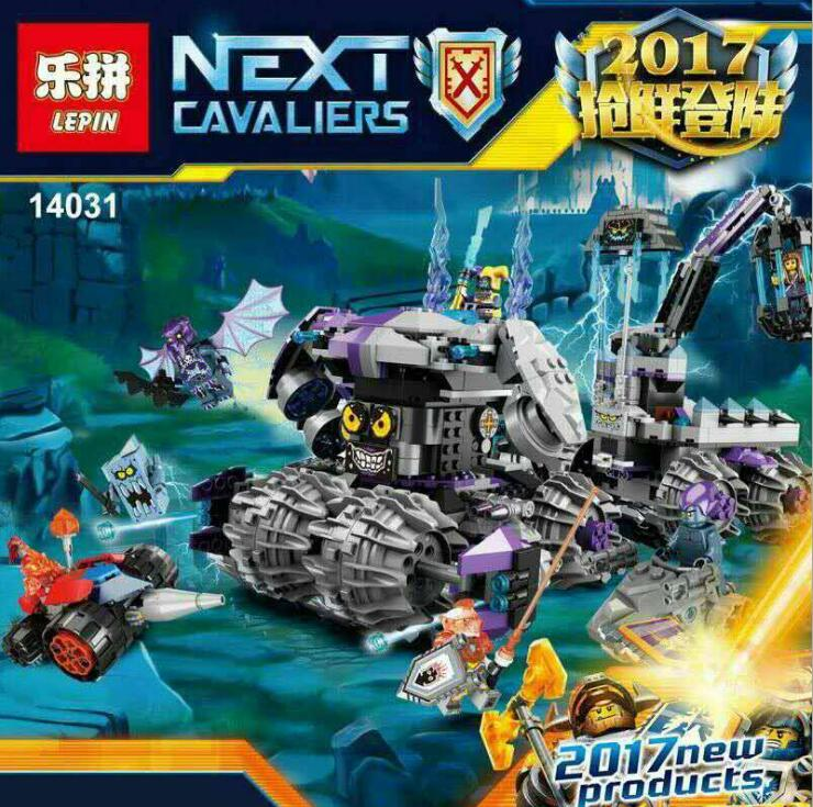 ФОТО Lepin 14031 Nexus Knights Building Blocks Set Jestro\'s Monstrous Monster Vehicle Kids Bricks Toys Compatible 70352