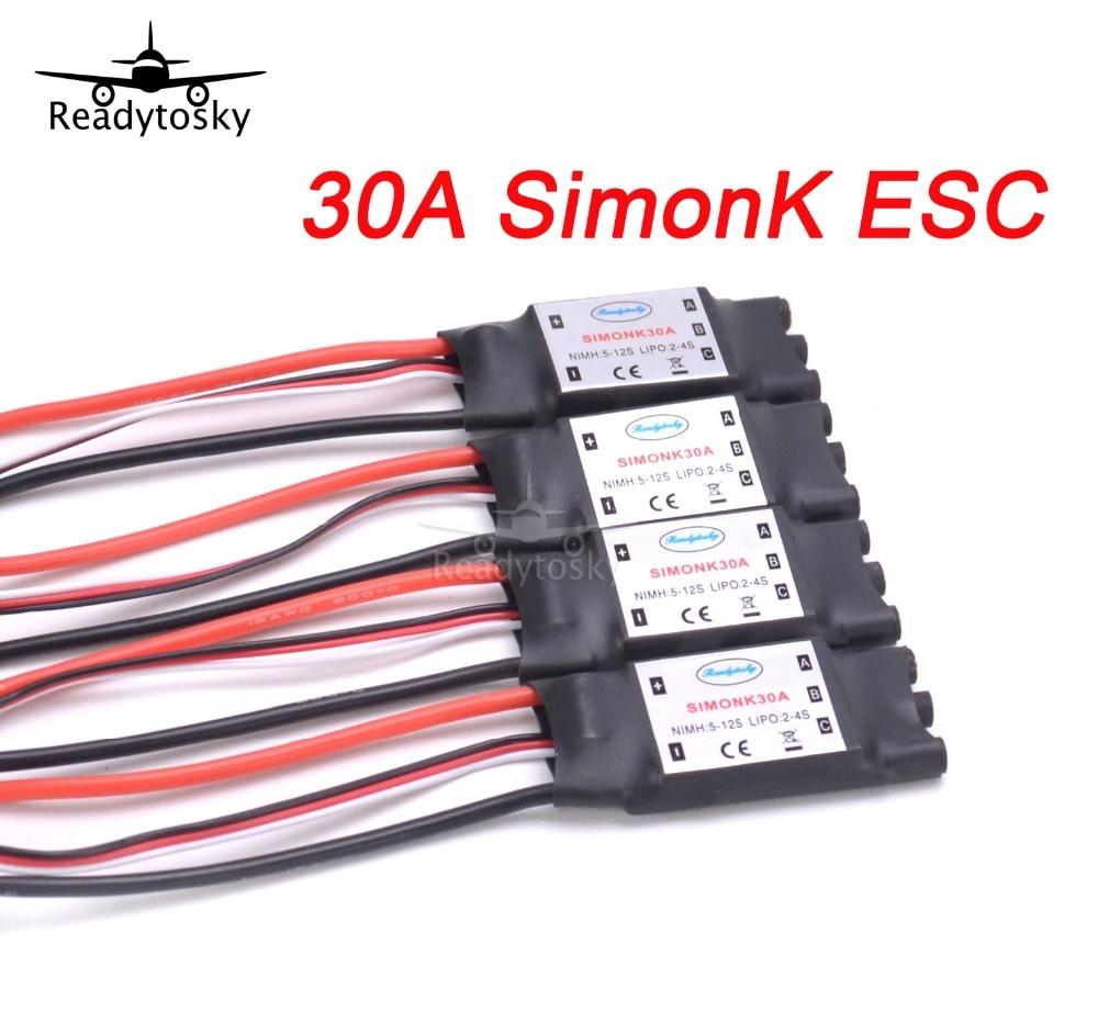 Новый 30A Simonk ESC с BEC для F450 S500 S550 RC Quadcotper вертолета