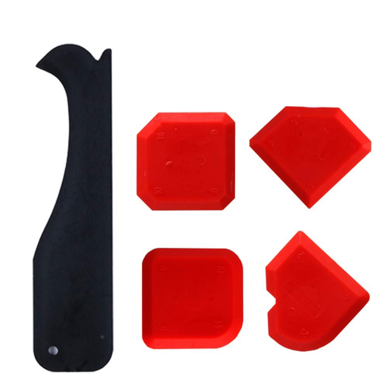 5 Piece Caulking Tool Kit Grouting Scraper Silicone Finishing Sealant Tool Caulking Home Improvement Construction Tool