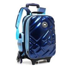 3D jungen trolley mit rädern für schule Kinder Rollen tasche auf rädern kinder Reisetasche 6 räder Schule Trolley rucksack