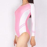 Sexy Women Pink Pack Hip High Cut Swimwear Bodysuit One Piece Thong Spliced Erotic Leotard Costumes