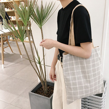 2019 New Fashion Women Shoulder Bags Canvas Cotton Casual Ladies Handbags Small Fresh and Simple Wild Student Shopping Bag women casual bags canvas small fresh woman handbags bags simple striped female fashion bags