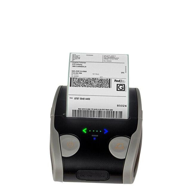 אנדרואיד IOS נייד תרמית תווית מדפסת מיני נייד 58mm ברקוד QR מדבקת נייר כיס Bluetooth מדפסת