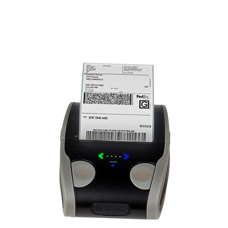Imprimante de reçu de billet de position de Windows d'android mini imprimante portative de Bluetooth d'étiquette de code barres de 58mm