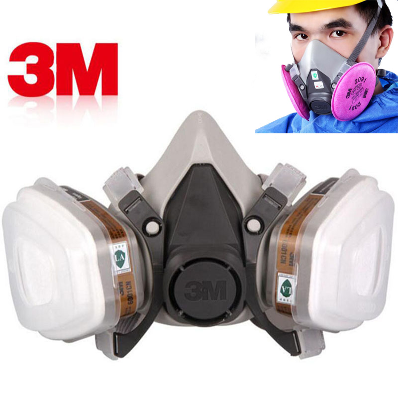 3M 6200 Gas Mask Paint Spraying Safety Work Half Face Respirator Industry Dust Mask With Filter(China)