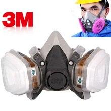 3M 6200 قناع واقي من الغاز الطلاء الرش سلامة العمل نصف الوجه تنفس صناعة الغبار قناع مع فلتر