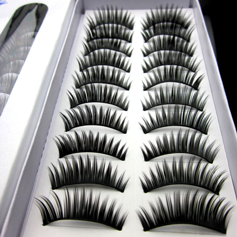 New 40pairs/Lot Long Eyelashes Fashion Thick False Eyelashes Eyelash Extensions Eye Lashes Voluminous Make Up Fake Lashes