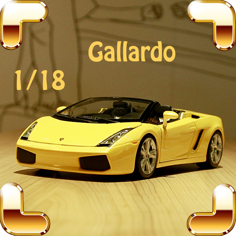 New Year Gift Gallardo 1/18 Alloy Model Car Toys Metal Model Scale Decoration Souvenir Metallic Collection Men Luxury Present maisto 1952 citroen 15cv 6 cyl 1 18 scale car model alloy toys diecasts