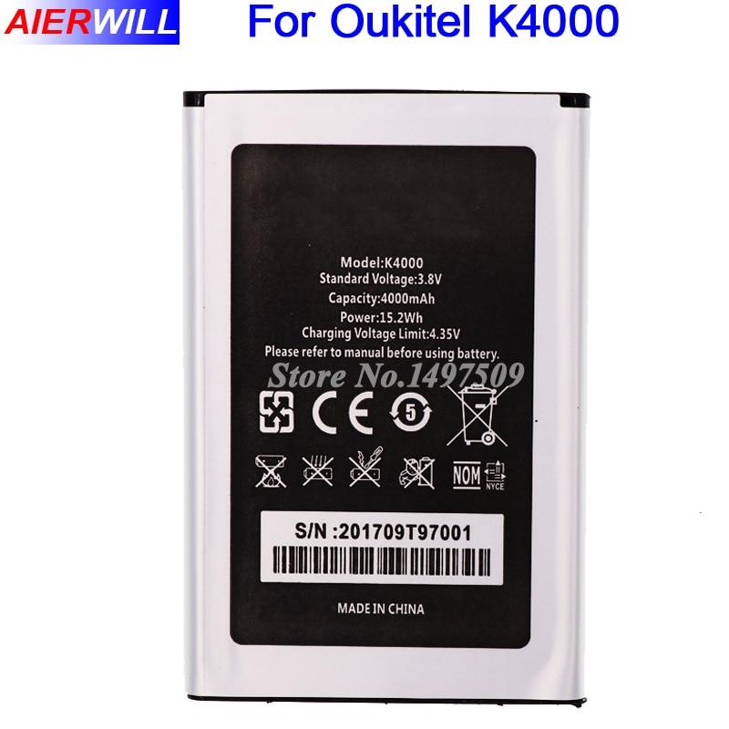 Pour Oukitel K4000 Batterie 4000 mAh Haute Qualité Bateria Batterij Accumulateur