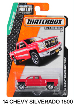 Authorized S Hot Wheels Matchbox Series Chevy Silverado Kids Toys Plastic Metal Miniatures Cars Model 30782 Collectible Toy