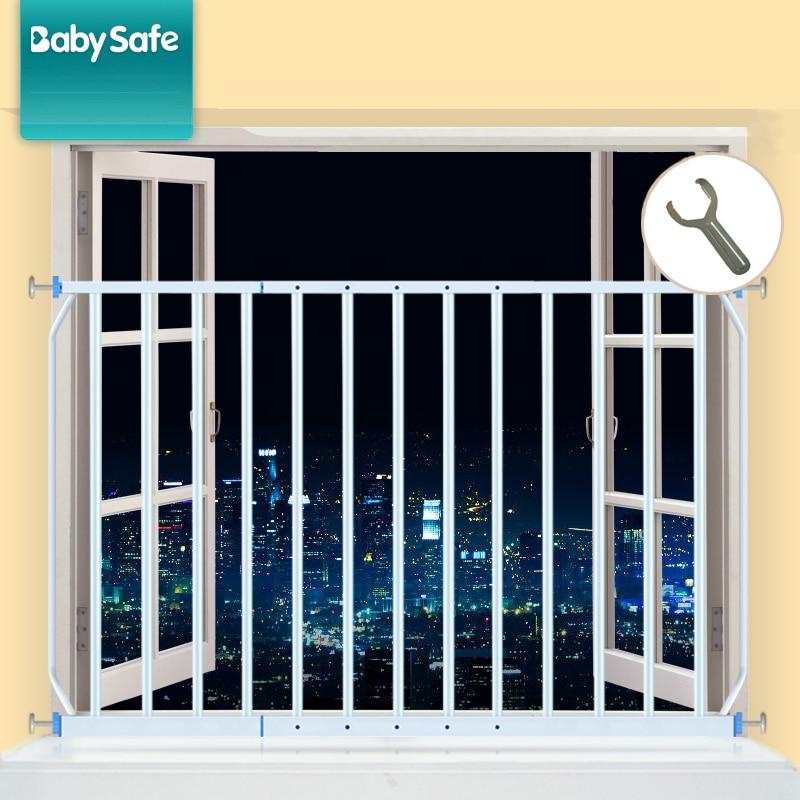 Babysafe Child Safety Fence 2pcs Window  Protection Railing Balcony Windows Security 96-165 Cm  Windows Network