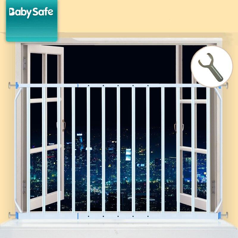 Babysafe Recinzione Di Sicurezza per Bambini 2 pz di Protezione della finestra Ringhiera del Balcone Finestre di Sicurezza 96-165 cm Finestre di Rete