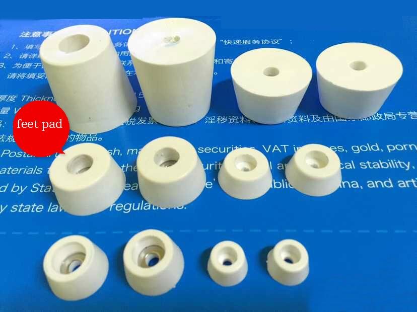White Rubber Feet Pads Machine Bottom Pads Instrument Case