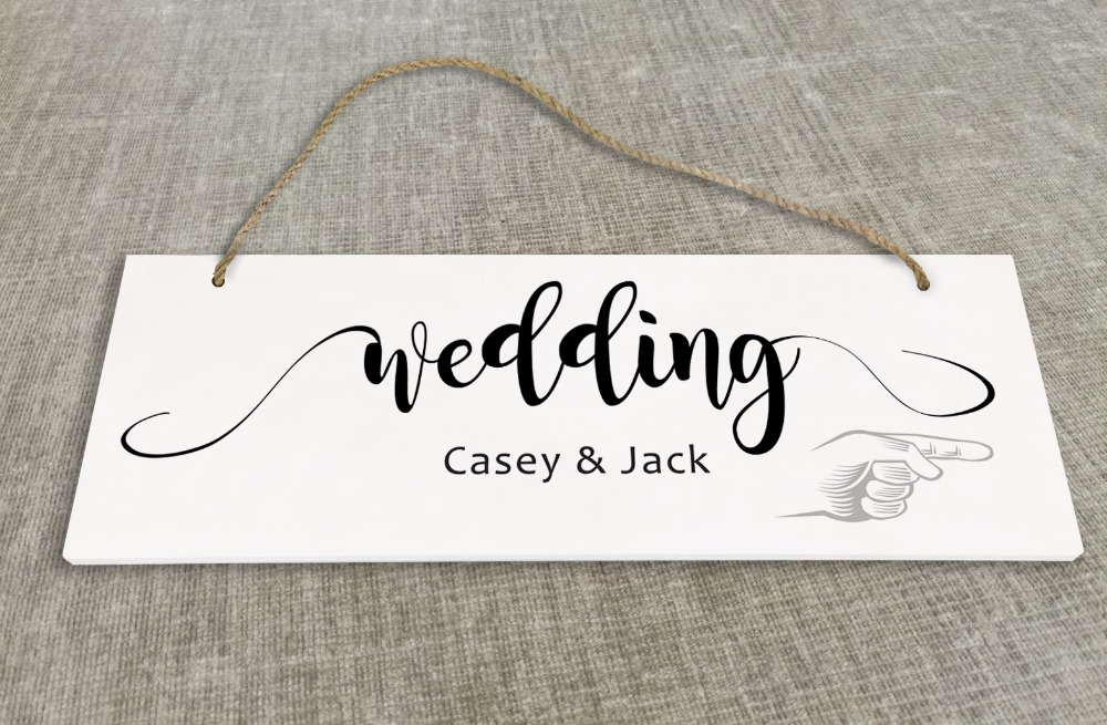 Personalized Outdoor Wedding Reception & Ceremony Decoration Directional Signs wedding sign board simple SB022H