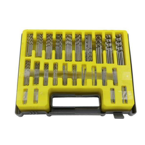 Livraison gratuite 150 pièces 0.4-3.2mm HSS Mini Micro perceuse ensemble petit Kit de forage hélicoïdal de précision avec boîtier de transport boîte en plastique
