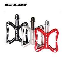 GUB 3 цвета алюминиевый сплав велосипедные педали Ультралайт MTB шоссейные велосипедные педали анти-скольжение велосипедные плоские платформы педали для верховой езды часть 2 шт.