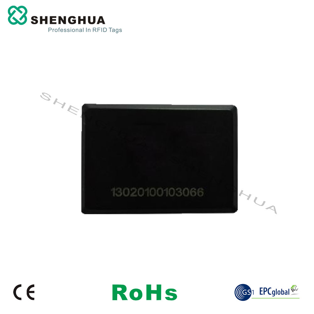 10pcs/pack High Temperature Resistance Waterproof Rfid Uhf Passive RFID Label Sticker ABS Black For Outdoor Metal Surface