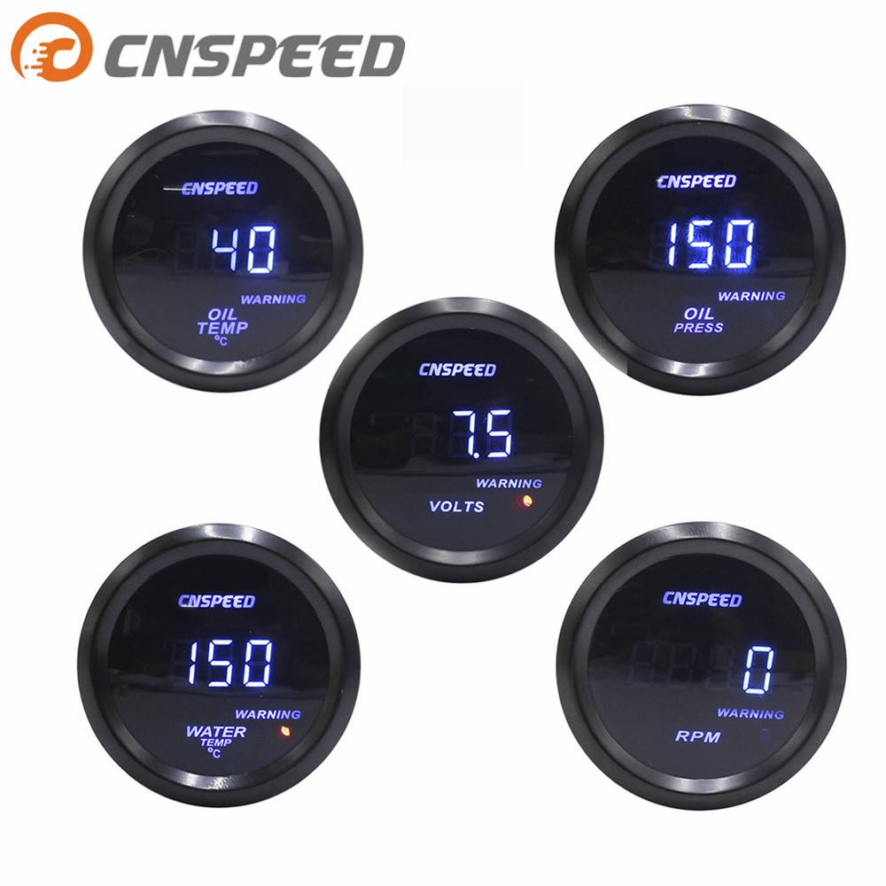 CNSPEED 2 52mm digital turbine car pulse meter water temperature PSI oil pressure oil gauge  tachometer voltmeter YC101332CNSPEED 2 52mm digital turbine car pulse meter water temperature PSI oil pressure oil gauge  tachometer voltmeter YC101332