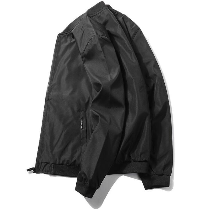Bomber Jacket Men Long Sleeve Basic Coats Casual Windbreaker Thin Slim Outerwear Jackets